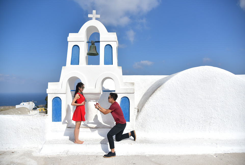 Santorini Proposal Skyline Travel