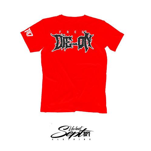 T-shirt Free Die-on rouge