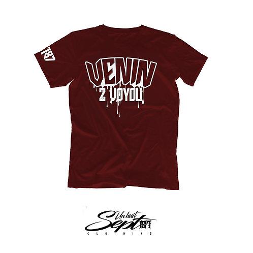 T-shirt Venin 2 Voyou Rouge Vin