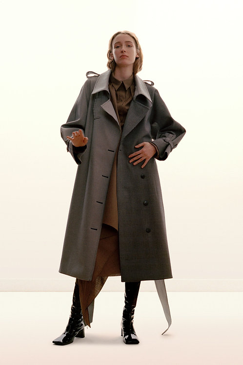 Sharon Wauchob Check Bonded Wool Coat AW18