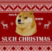 doge christmas sweater pattern universal