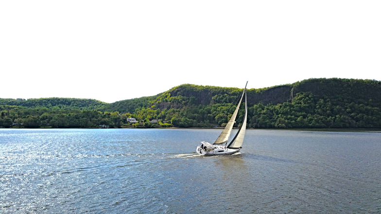 sailboat on Hudson River