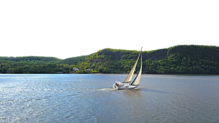 sailboat on Hudson River