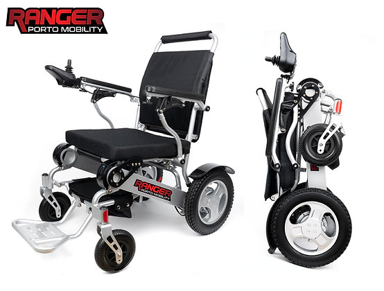 PRE-ORDER Ranger D09 XL World's Widest Light Power Wheelchair That Folds up!