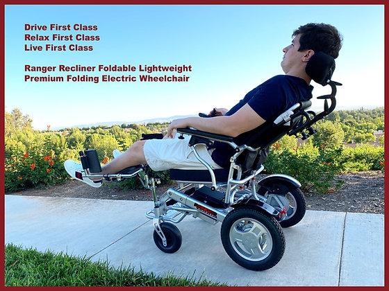 2021 RANGER Reclining XXL Wider Seat Heavy Duty Light Folding Power Wheelchair