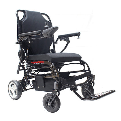 Porto Mobility Ranger Super Lightweight 41lbs Foldable Power Wheelchair (Black)