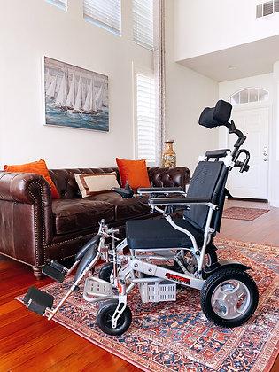 RANGER D09-S Lightweight Folding Power Chair with Leg Extension + Head Rest