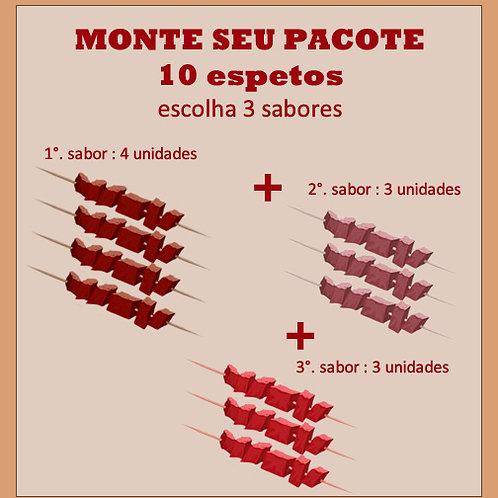 Monte seu Pacote 10 espetos [3 sabores]