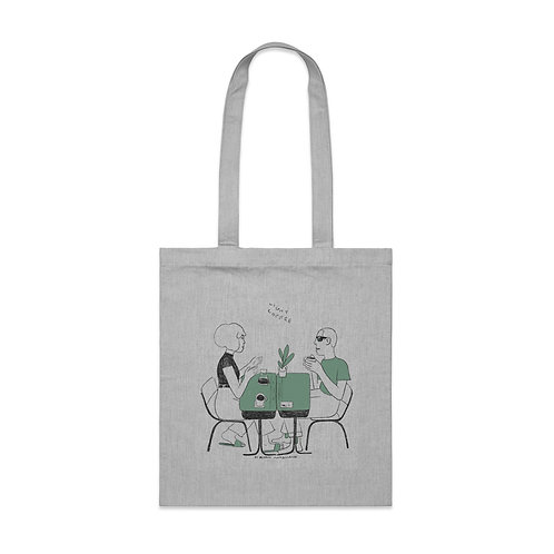 Light Coffee Limited Edition -Light Grey Tote by Ryan Mcshane