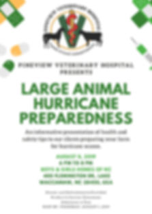 Farm Animal Hurricane Preparedness Flyer