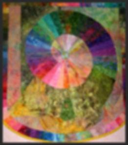 spiral of life art quilt