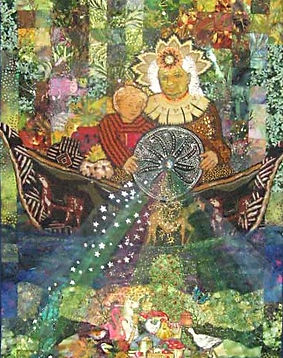 Elder and child magically creating a nourishing world