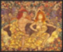 god and goddess enjoying the fall leaves