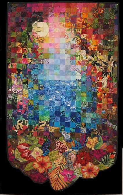 seaside foliage quilt image