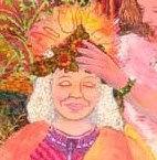 image of elder woman being crowned
