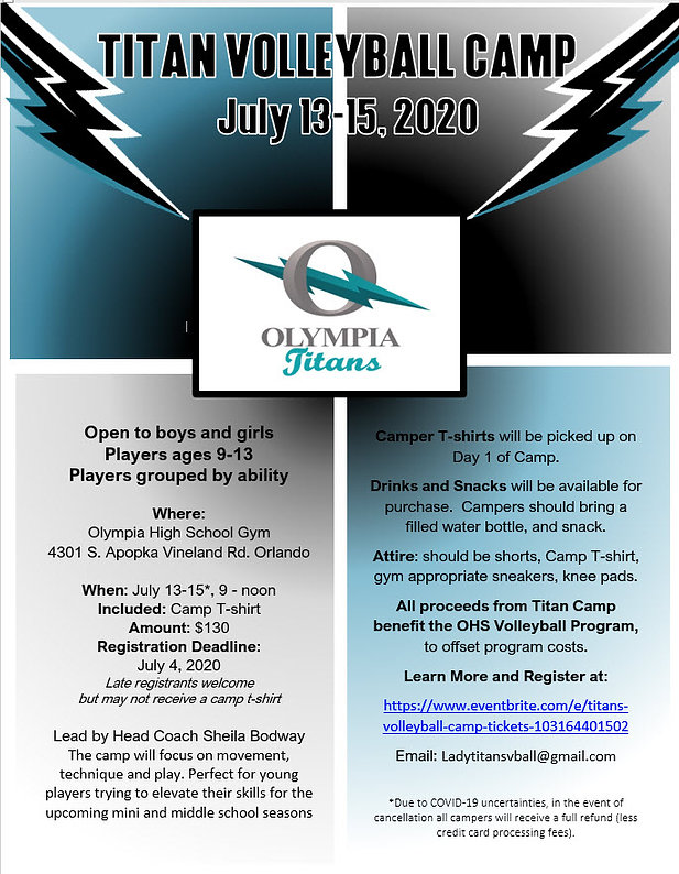 Olympia all skils volleyball camp