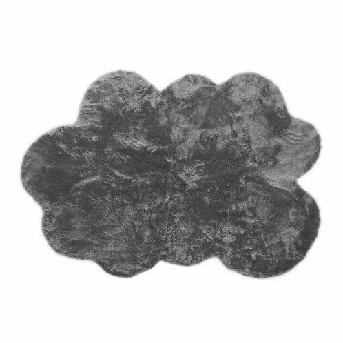 Tapis nuage gris foncé moyen