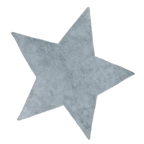 Etoile gris clair en Soie et Coton
