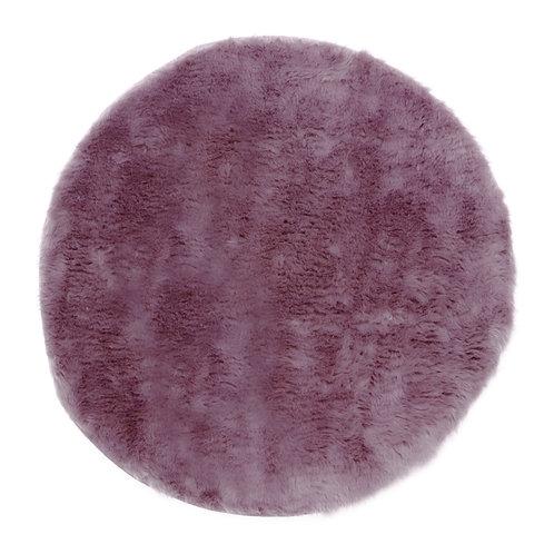 Tapis rond mauve grisé petit