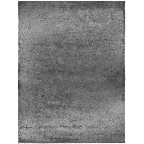Rectangle gris foncé en Soie et Coton