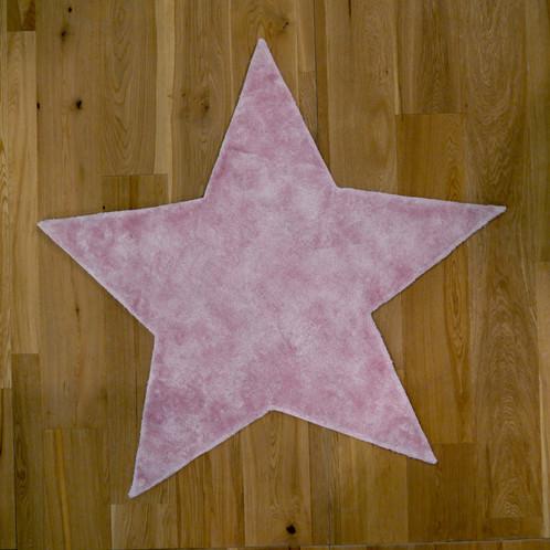Tapis étoile rose / Star baby pink | pilepoil tapis enfants kids rugs