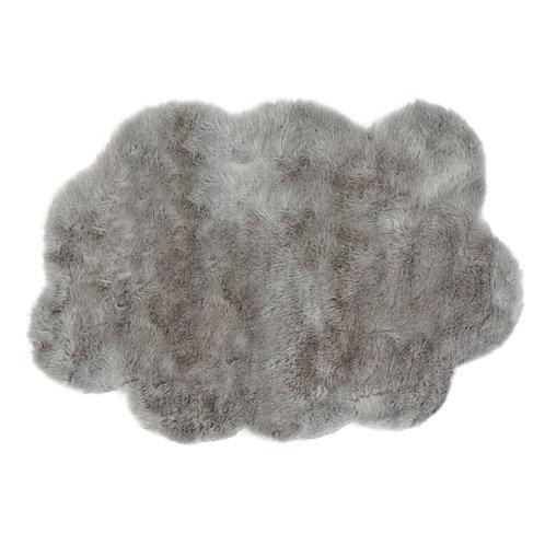 Tapis nuage gris clair petit