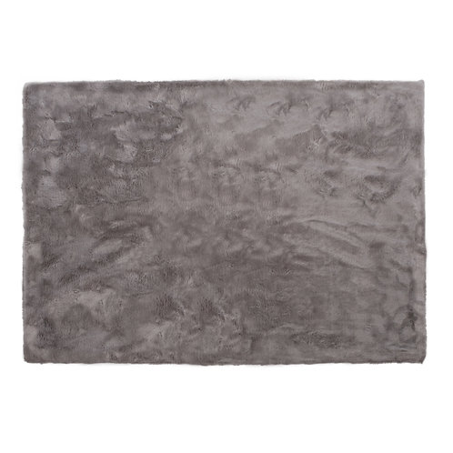 Tapis rectangle gris clair
