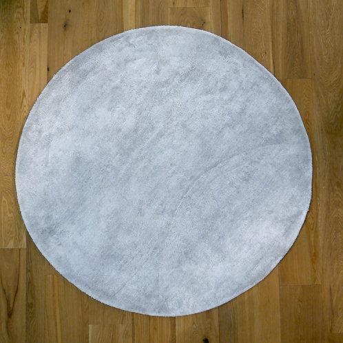 Rond gris clair en Soie et Coton