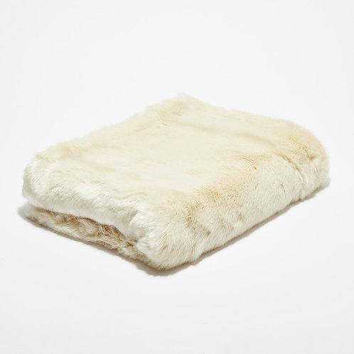 Bout de lit fausse fourrure Blanc Neige