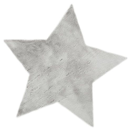 Grande étoile Gris Clair - Maxi Douceur