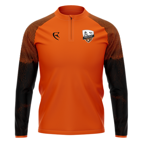 AVFC Classic Pro Quarter Zip Midlayer (Orange)