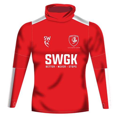SWGK Classic Pro Red Snood Neck Midlayer