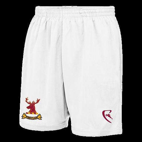 PBC Pro Elite Travel Shorts (White)