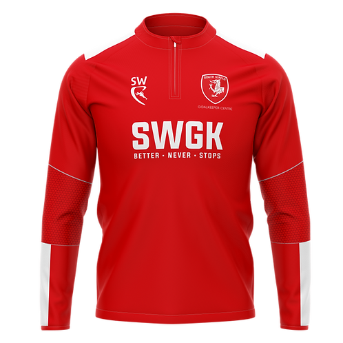 SWGK Classic Pro Red Quarter Zip Midlayer
