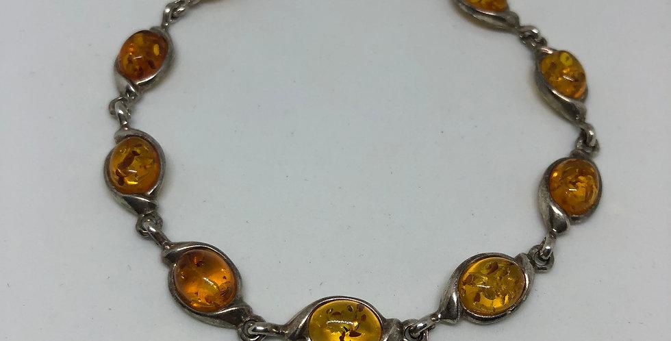 Amber Antique Silver Bracelet