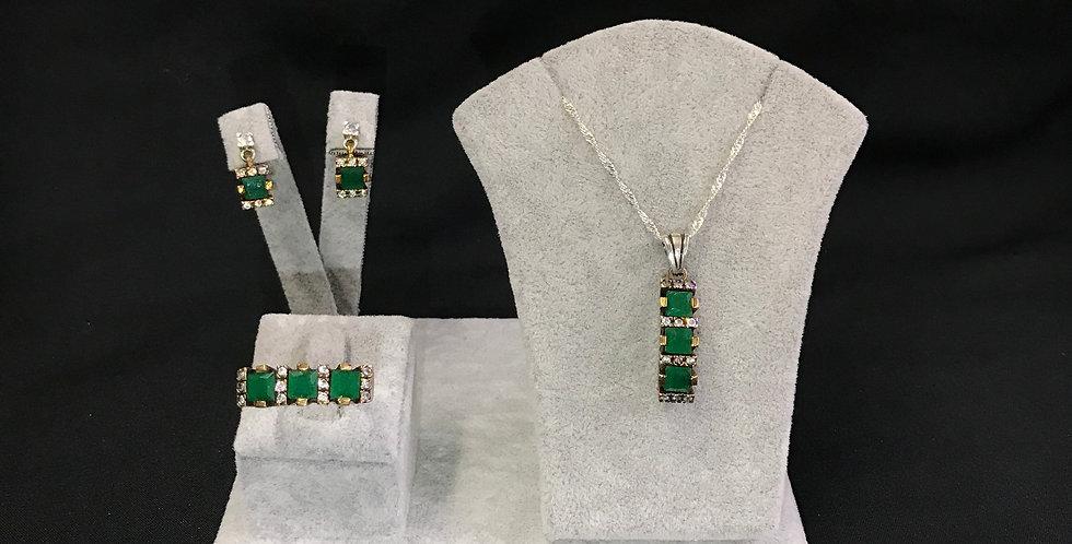 Elegant Handmade Emerald Set