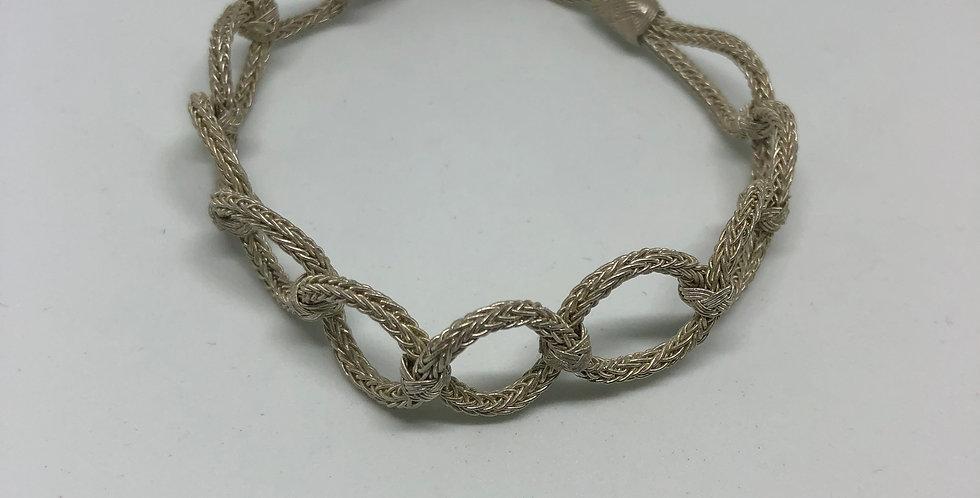 Circles Pure Silver Bracelet