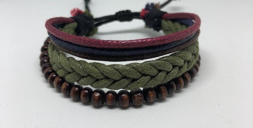 Plain - Dark Rope Bracelet