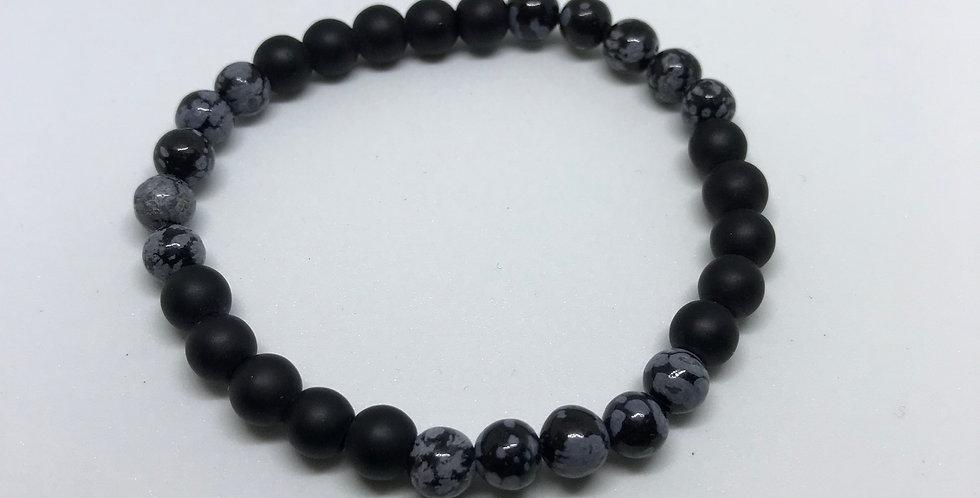 Obsidian & Matte Onyx Bracelet