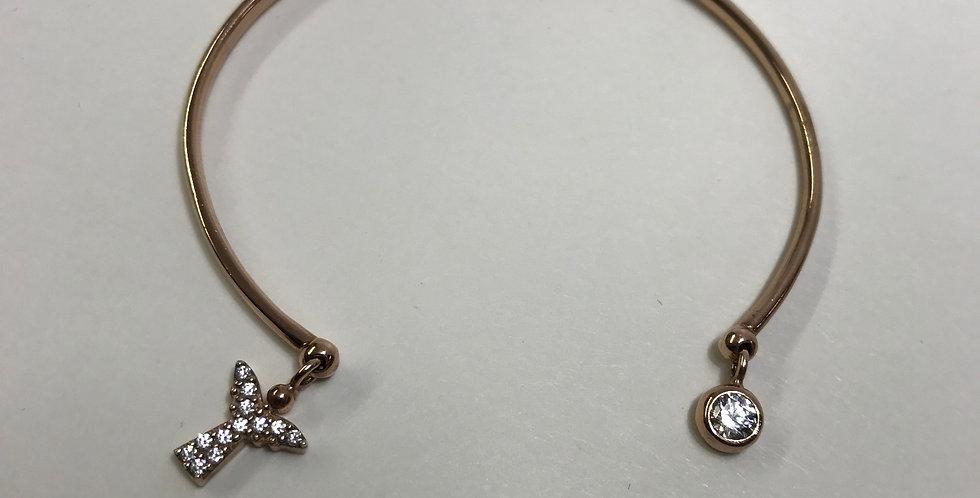 Rose Rhodium Plated Silver Bracelet