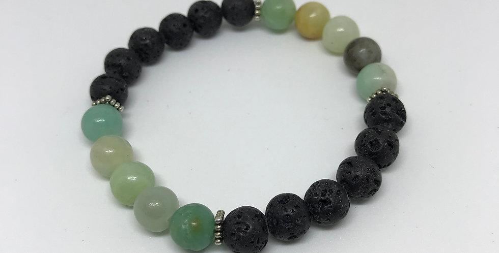Amazonite & Hematite Bracelet