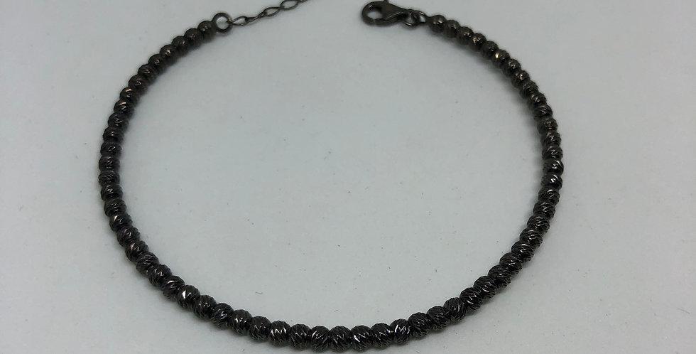 Dots Oxidated Silver Bracelet