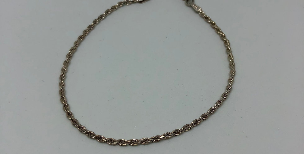 Twisted Silver Bracelet
