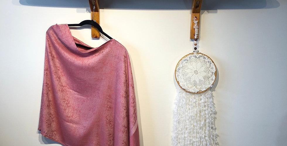 Pashmina & Silk Draped Shawl
