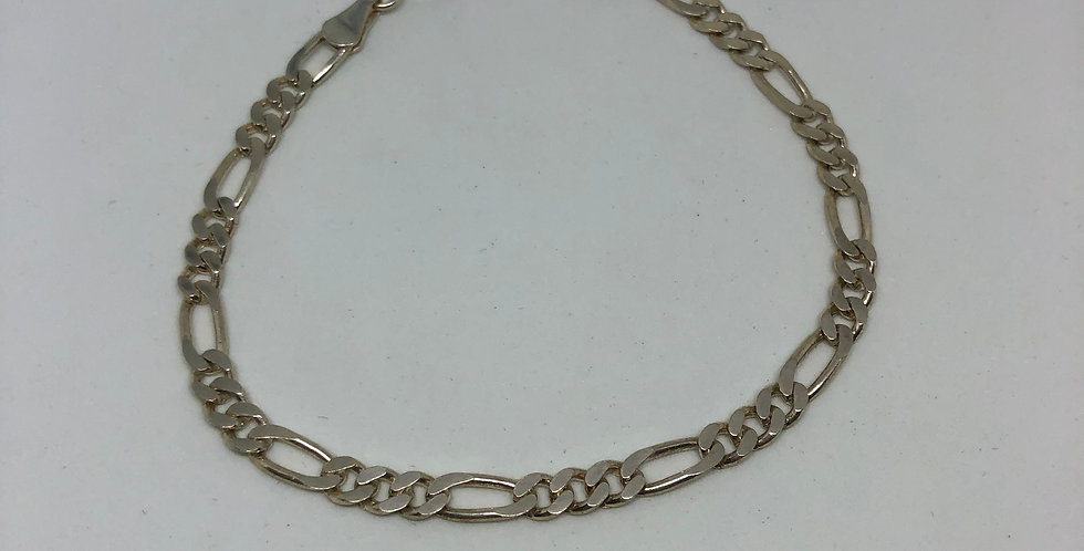 Chain Styled Silver Bracelet