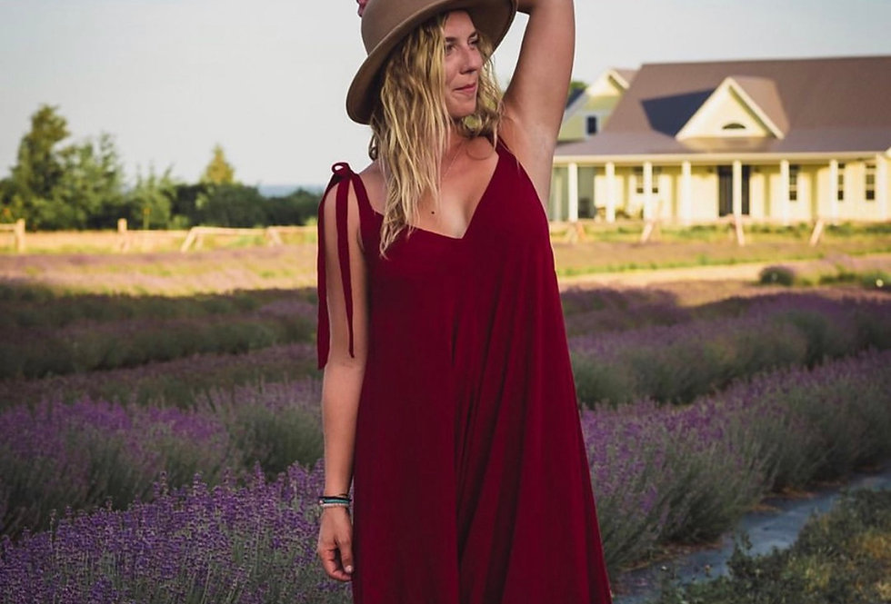 Finest Cotton Romper in Burgundy
