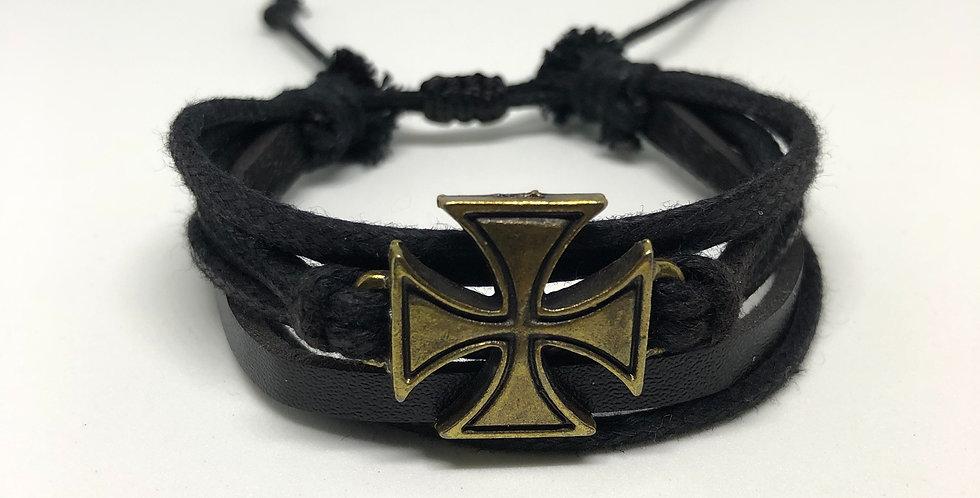 Batted Cross Rope Bracelet