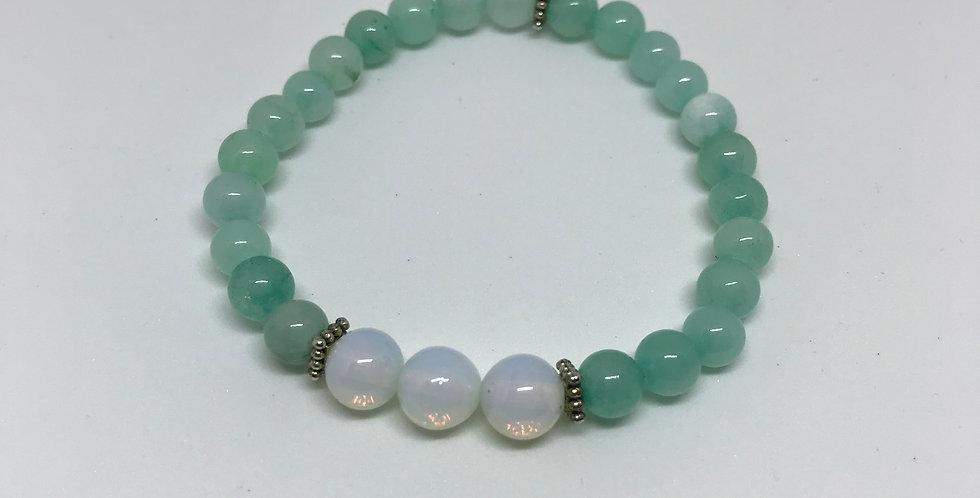 Amazonite & Moonstone Bracelet