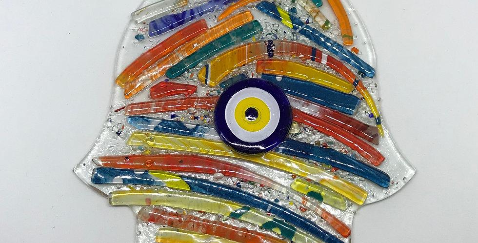 Glass Hamsa-1 Wall Ornament