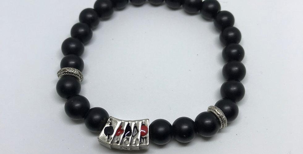 Onyx & Cards Bracelet